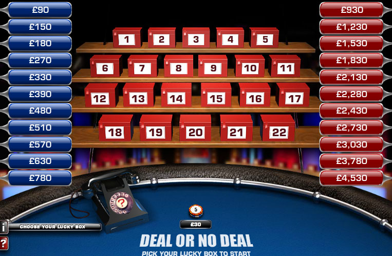 deal or no deal interactive game